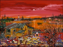 Sunset. Farmyard. 2008