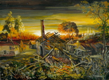 Sunset. Ruined Cottage. 2009