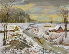 Winter Landscape with Ruined House. 2008