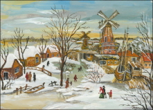 Winter Landscape with Mills. 2008